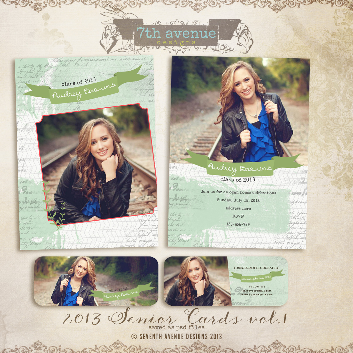 2013 Senior Card Templates no.1