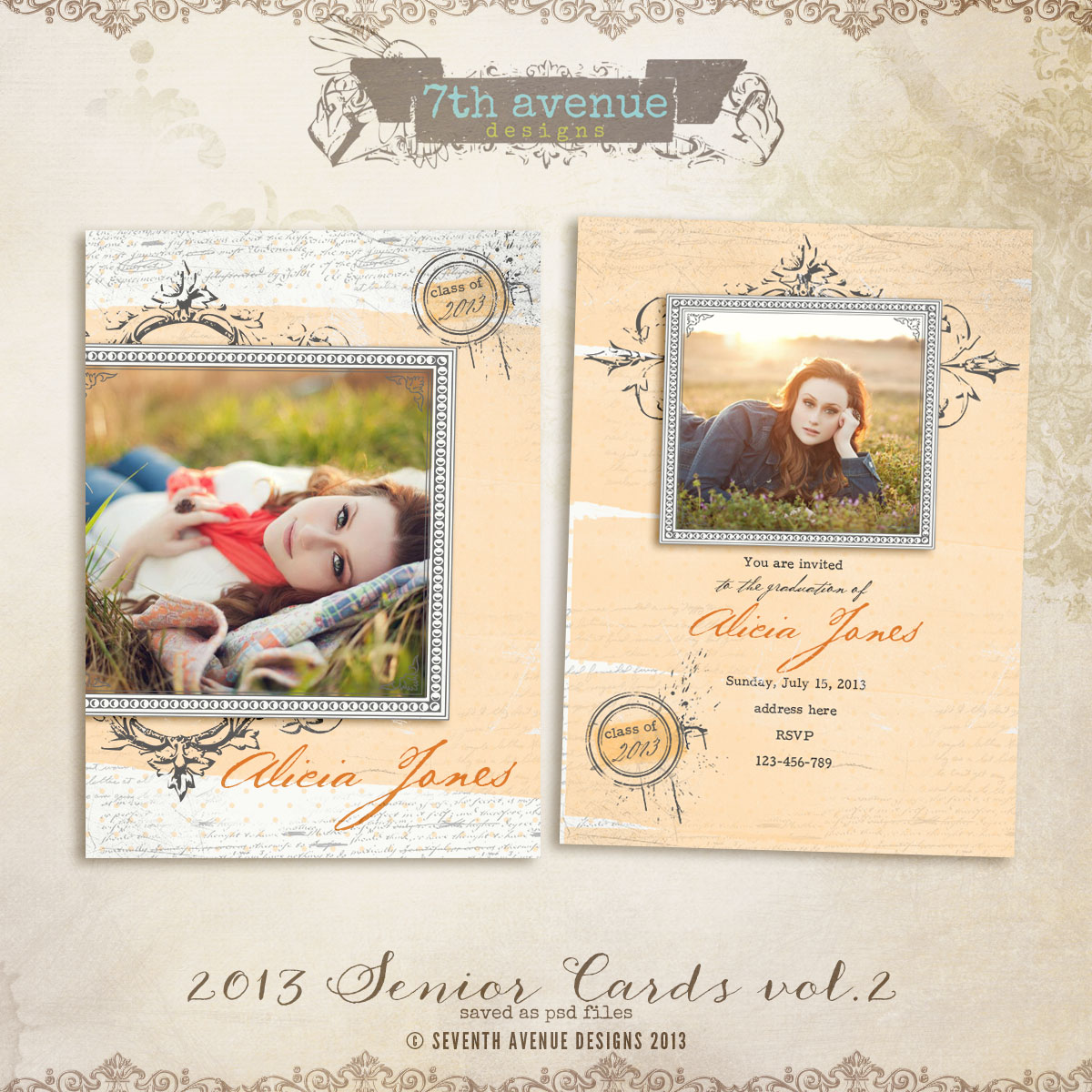 2013 Senior Card Templates no.2