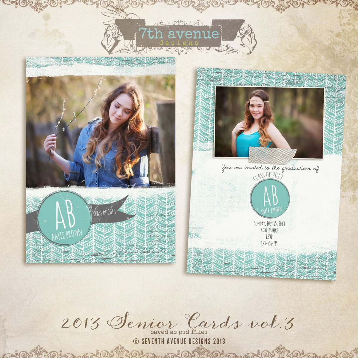 2013 Senior Card Templates no.3