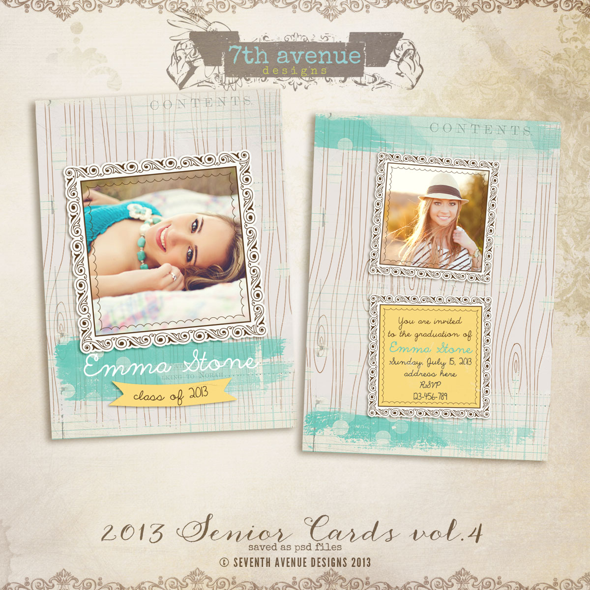 2013 Senior Card Templates no.4