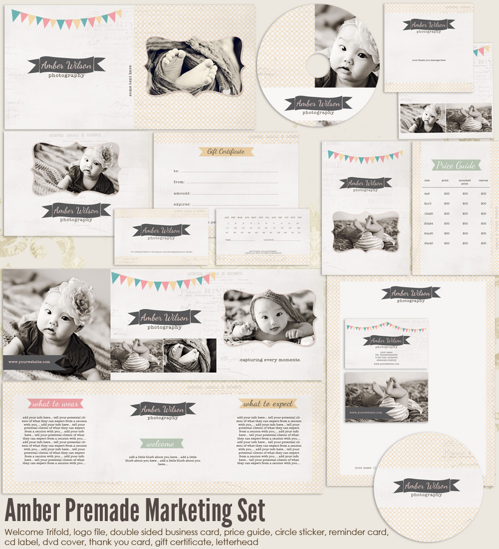Amber Premade Photography Marketing Set 1