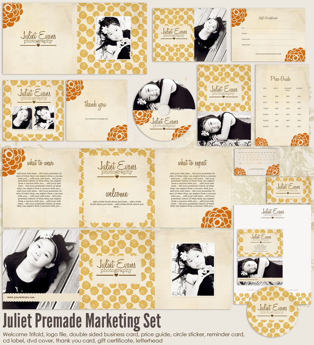 Juliet Premade Photography Marketing Set 1