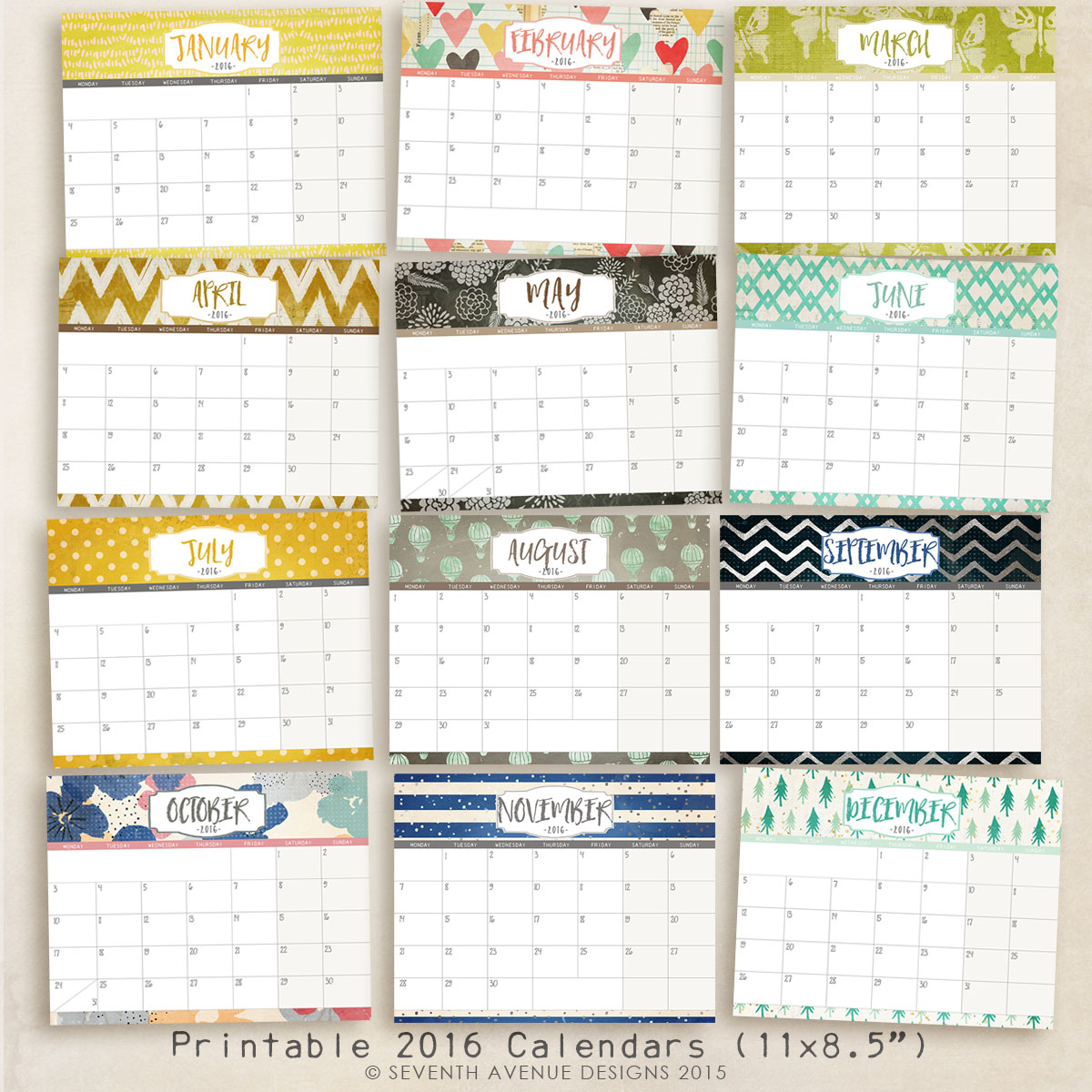 calendar to write on