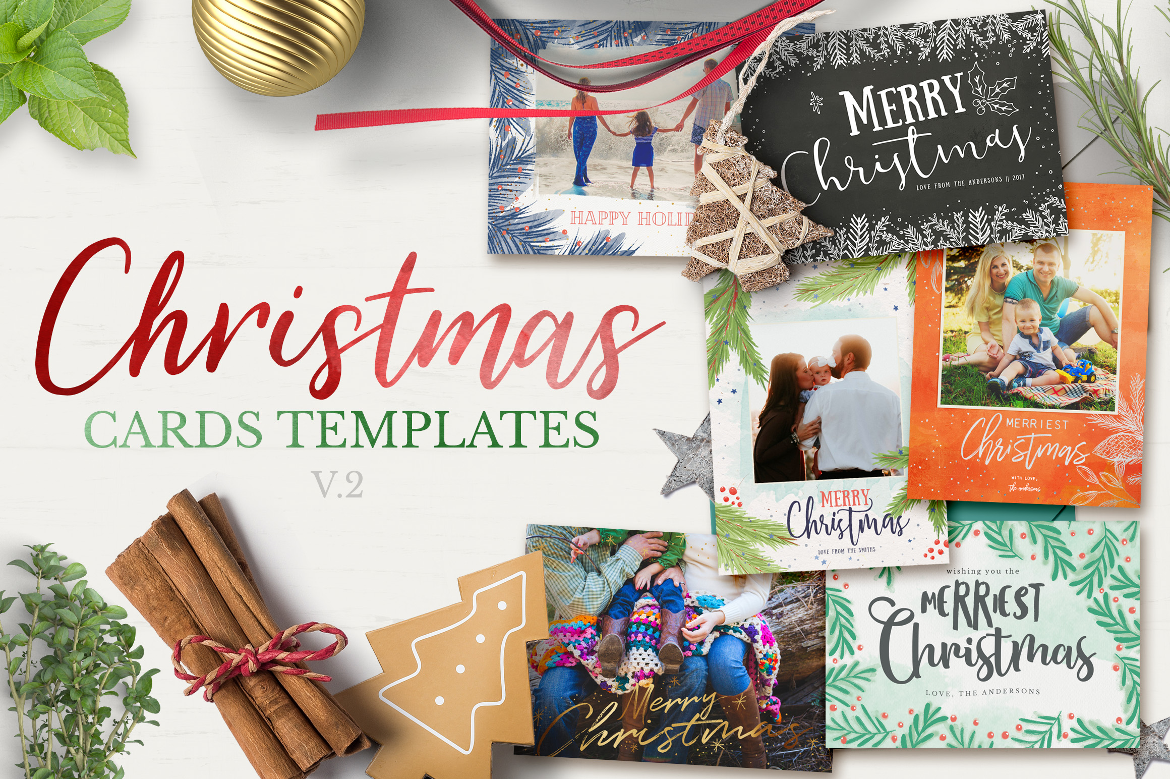 2017 christmas card templates bundle