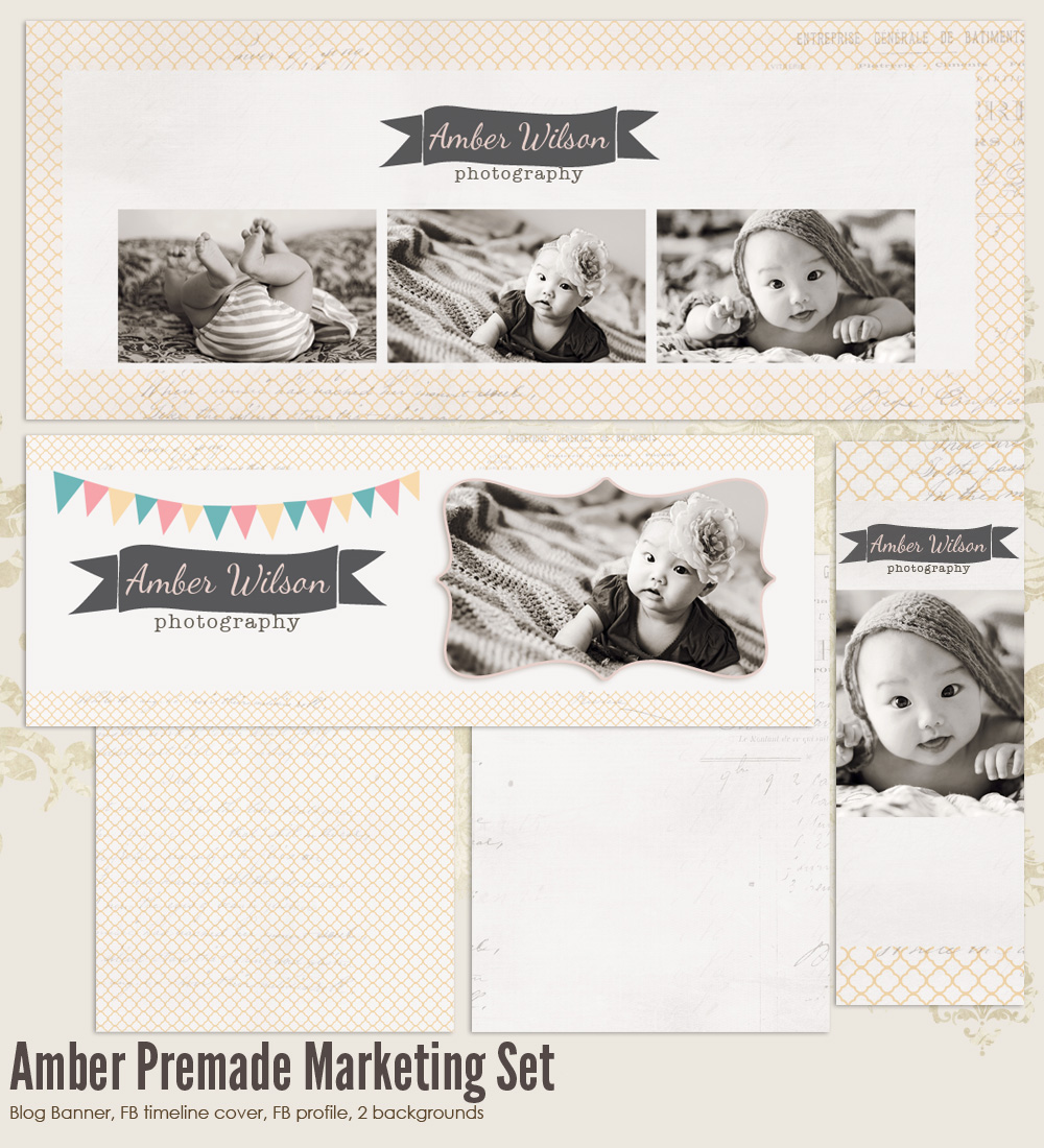 Amber Premade Photography Marketing Set 2