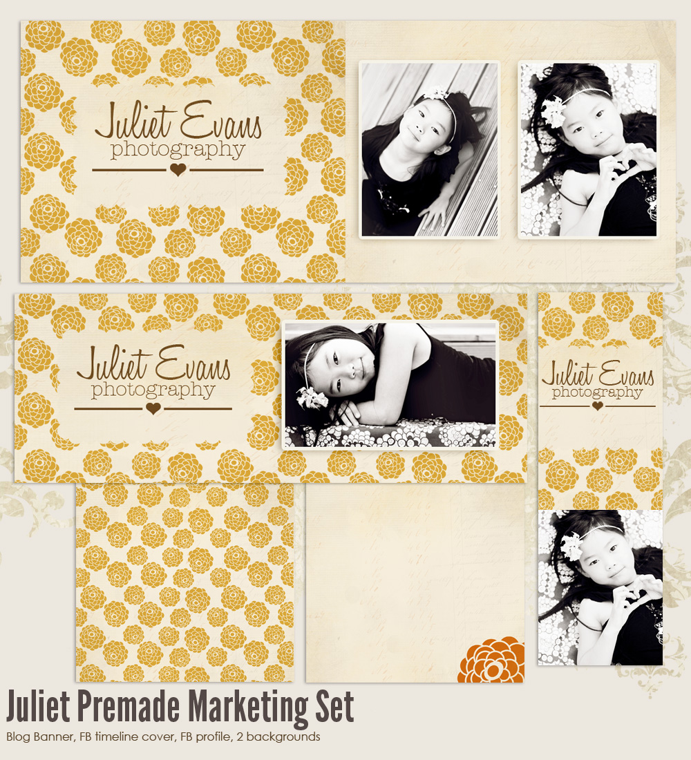 Juliet Premade Photography Marketing Set 2