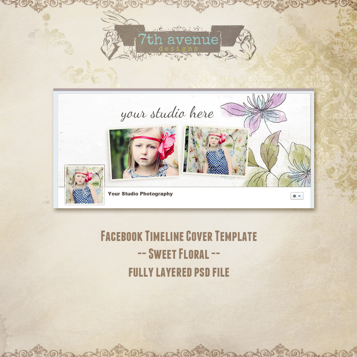 Facebook Timeline Cover - Sweet Floral