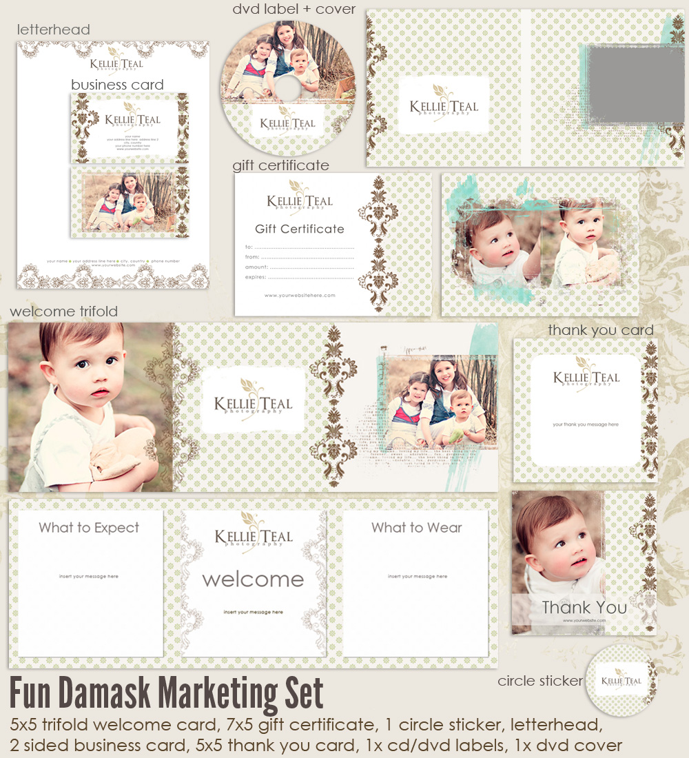 Fun Damask Marketing Set