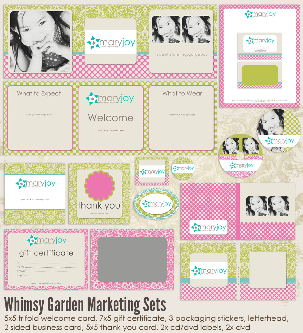 Whimsy Garden Marketing Set