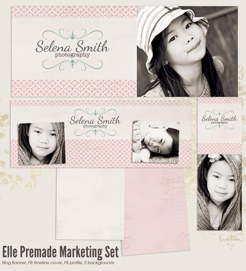 Elle Premade Photography Marketing Set Templates Set 2 Ms Elle2