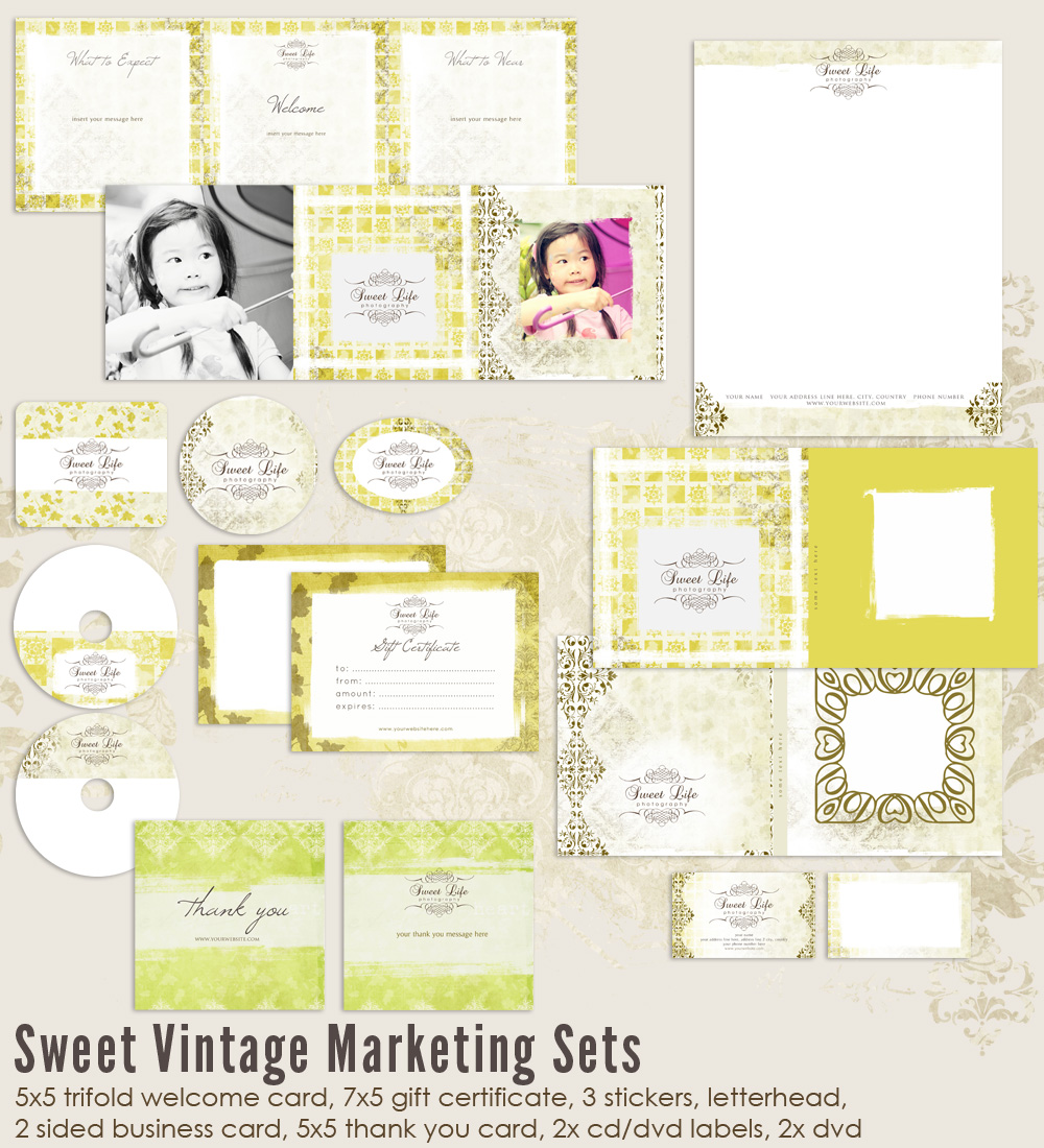 Sweet Vintage Marketing Set