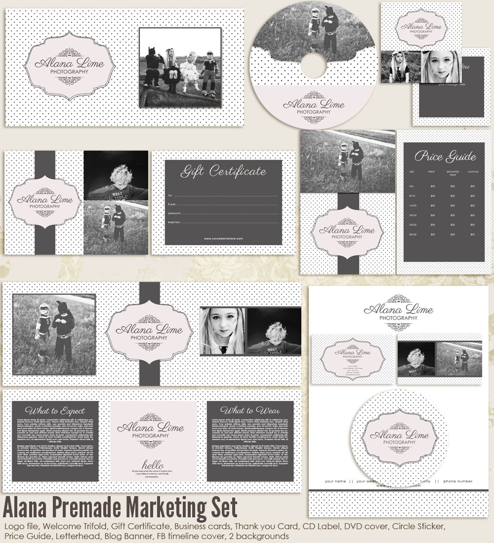 Alana Premade Marketing Set