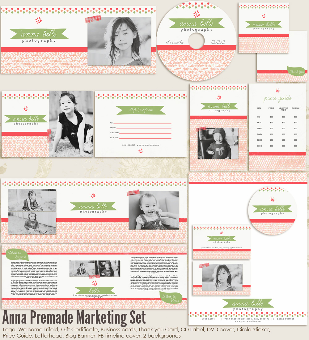 Anna Premade Marketing Set