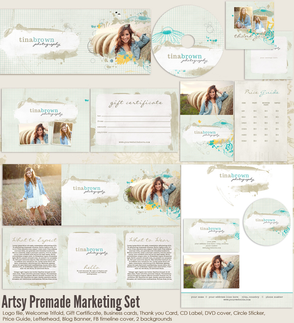 Marketing photographers templates images for Photography marketing templates