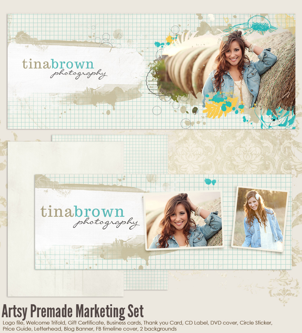 Artsy Premade Marketing Templates