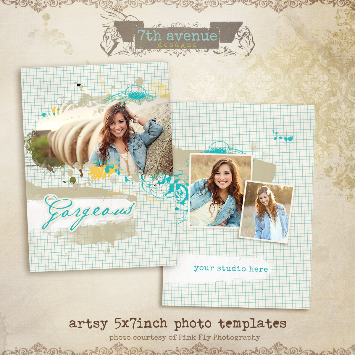 "Artsy 5x7"" photo card templates"