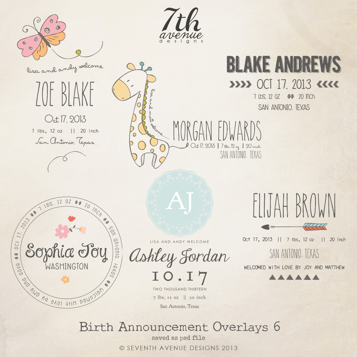online birth announcement