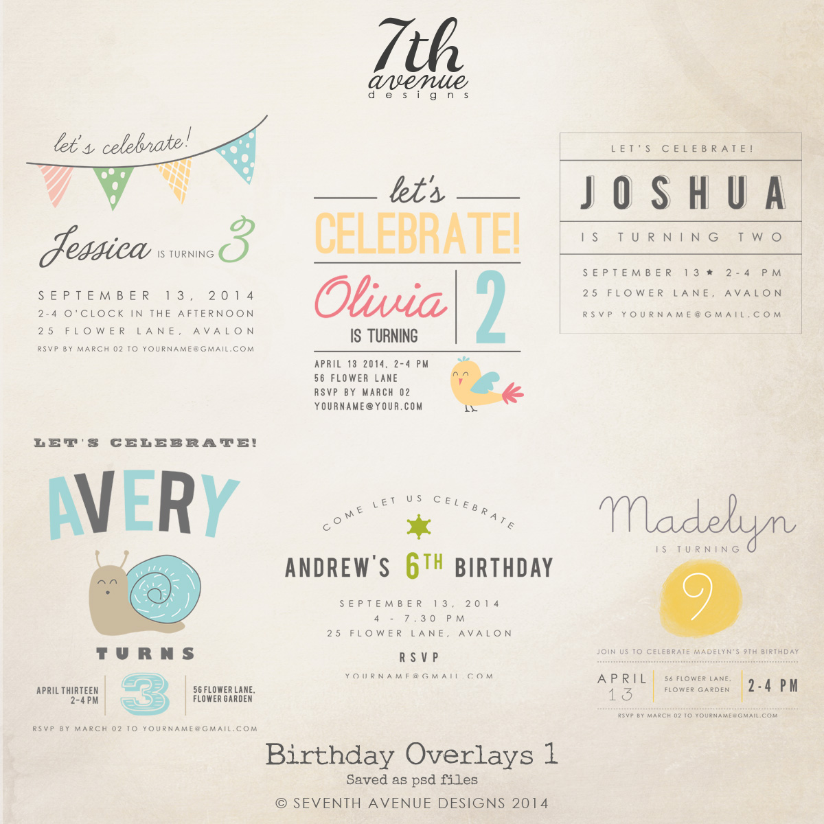 Birthday Overlays vol.1