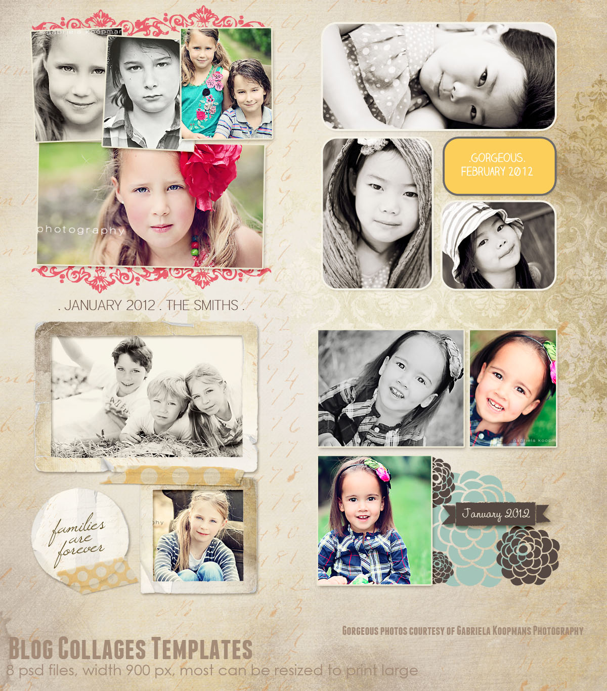 Blog/Storyboard Collages Templates