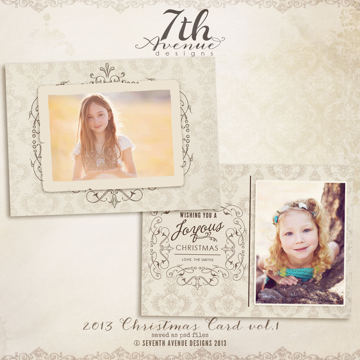 2013 Christmas Card Templates vol.1