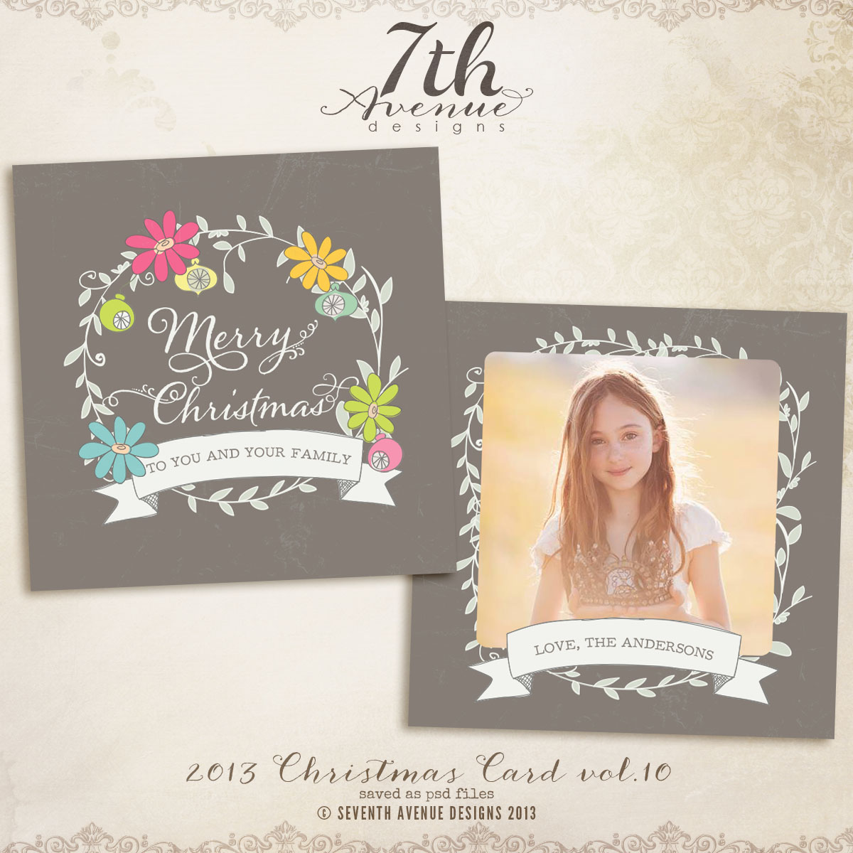 2013 Christmas Card Templates vol.10