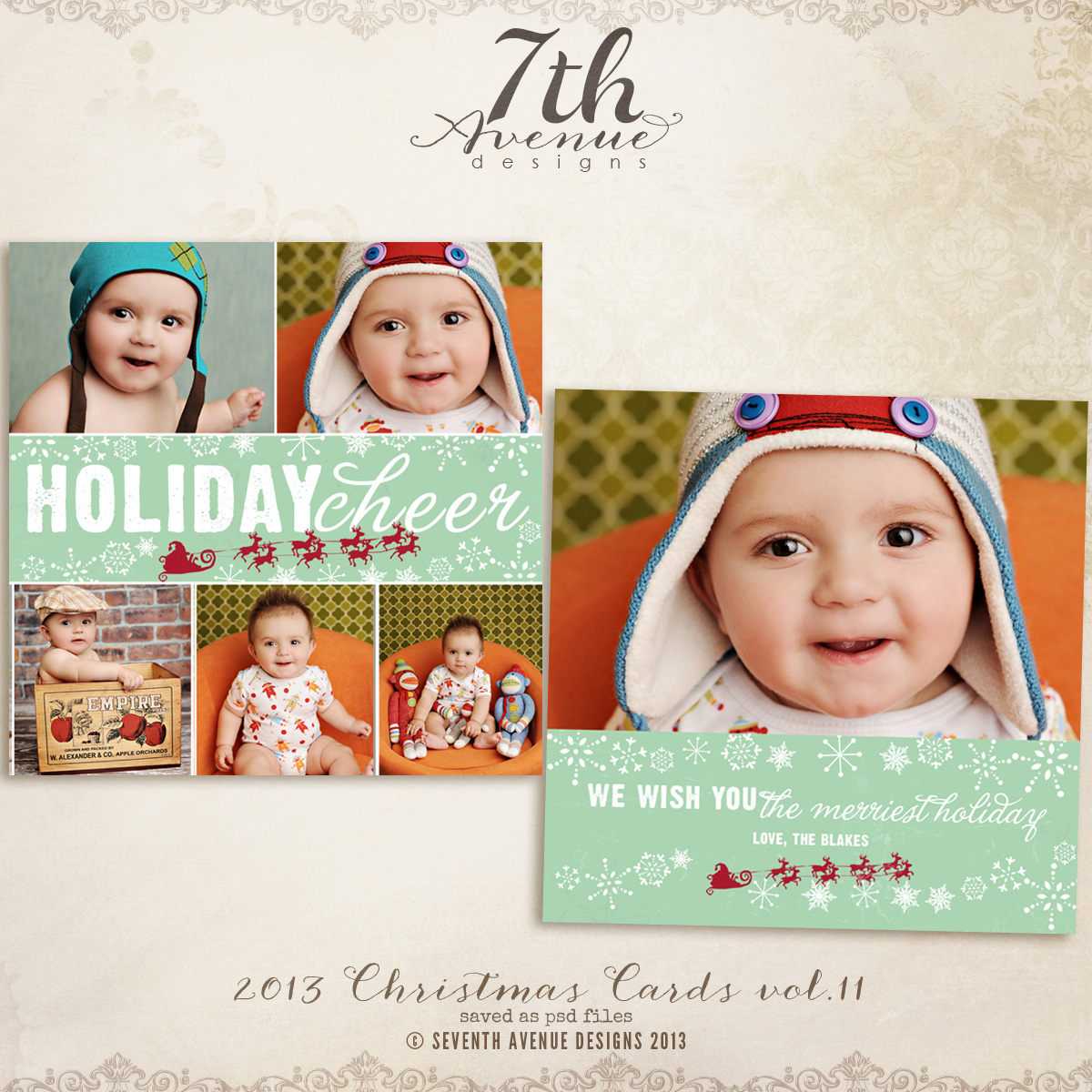 2013 Christmas Card Templates vol.11