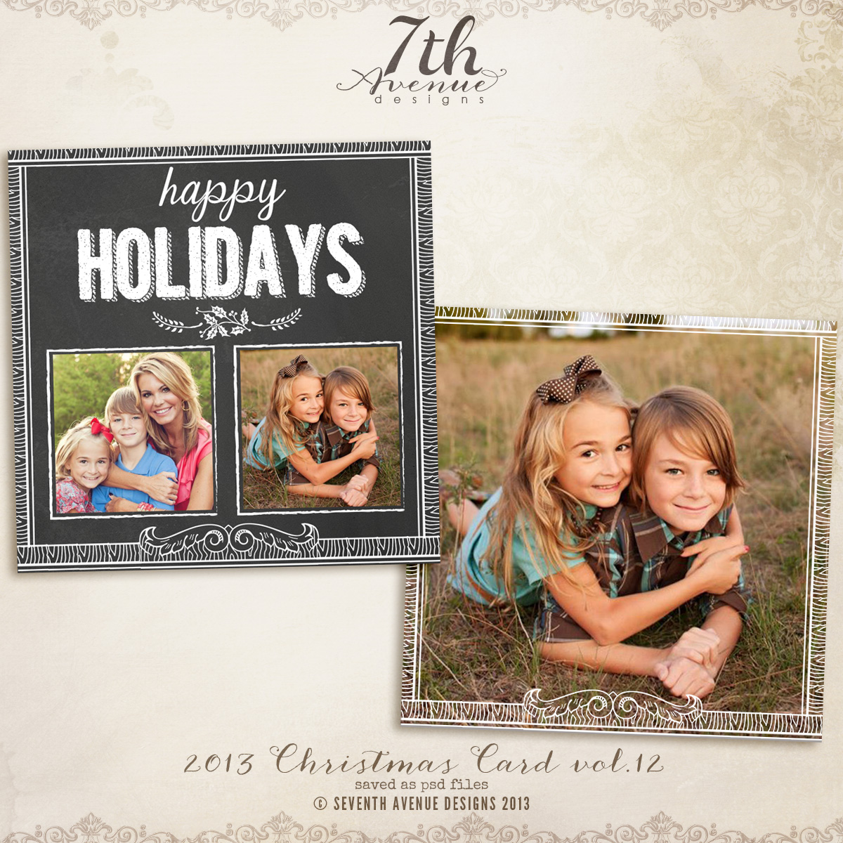 2013 Christmas Card Templates vol.12