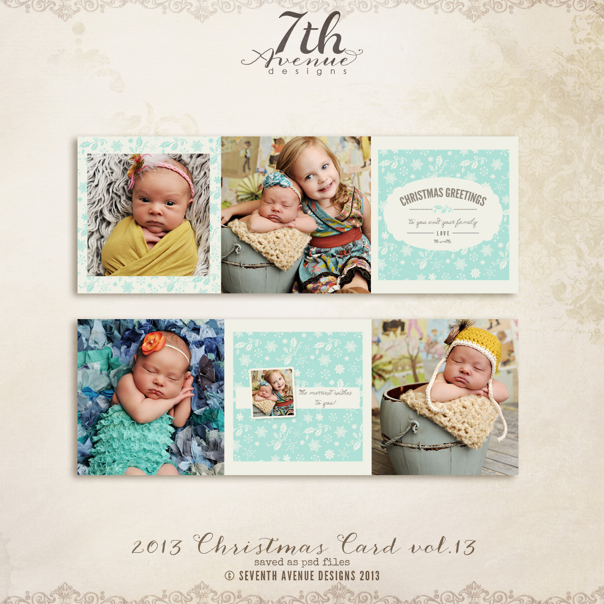 2013 Christmas Card Templates vol.13