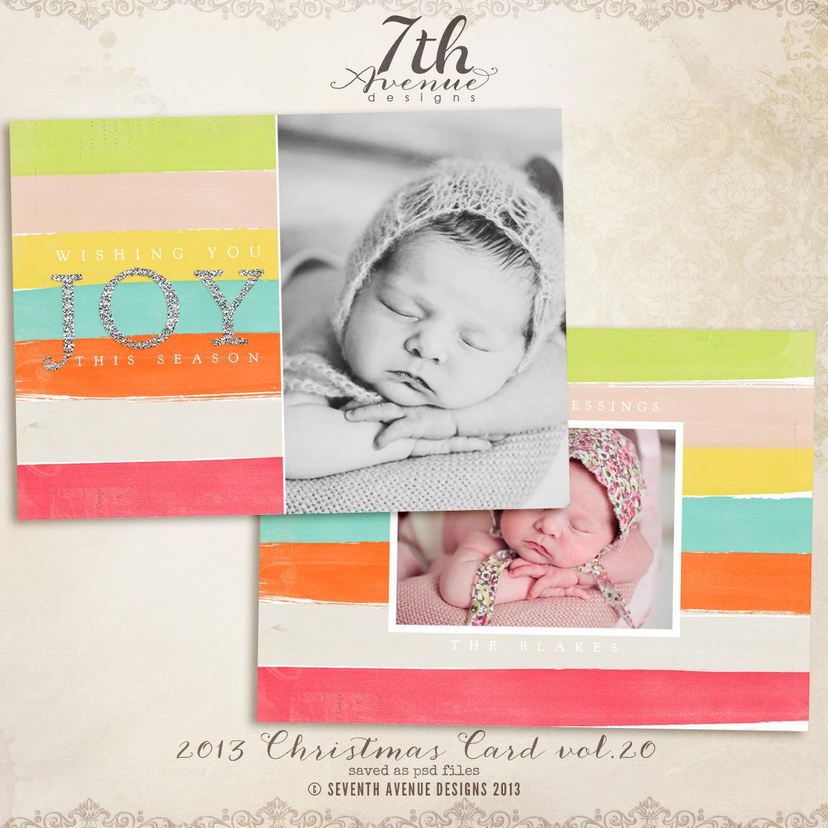 Christmas Card Templates Vol Cc ThAvenue - Christmas card templates for photographers 2