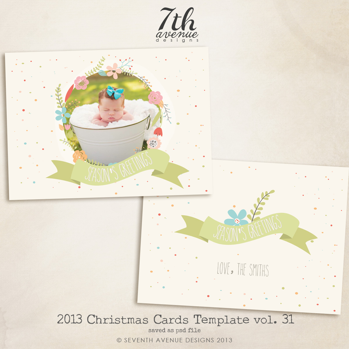 2013 Christmas Card Templates vol.31