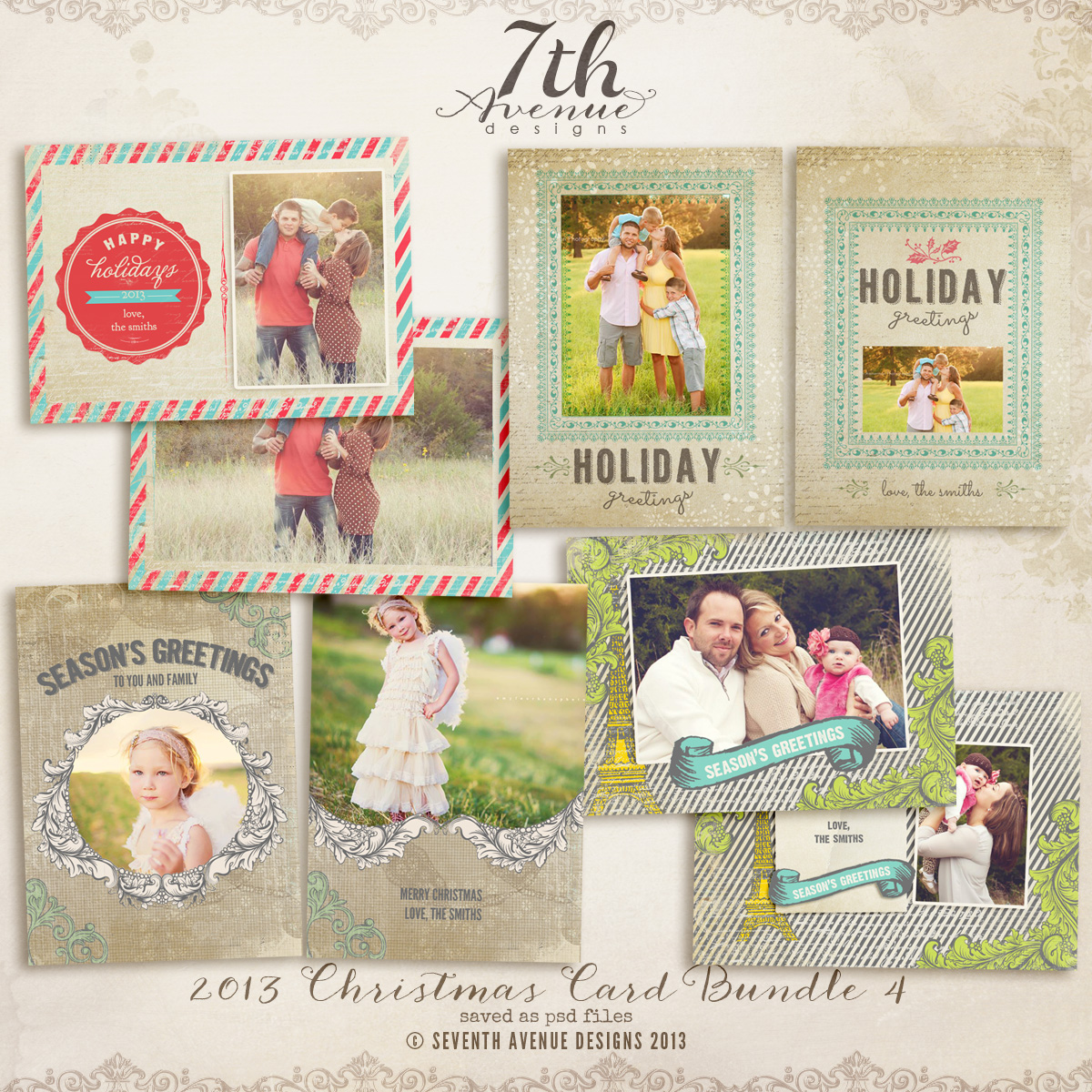 2013 Christmas Card Templates Bundle 4