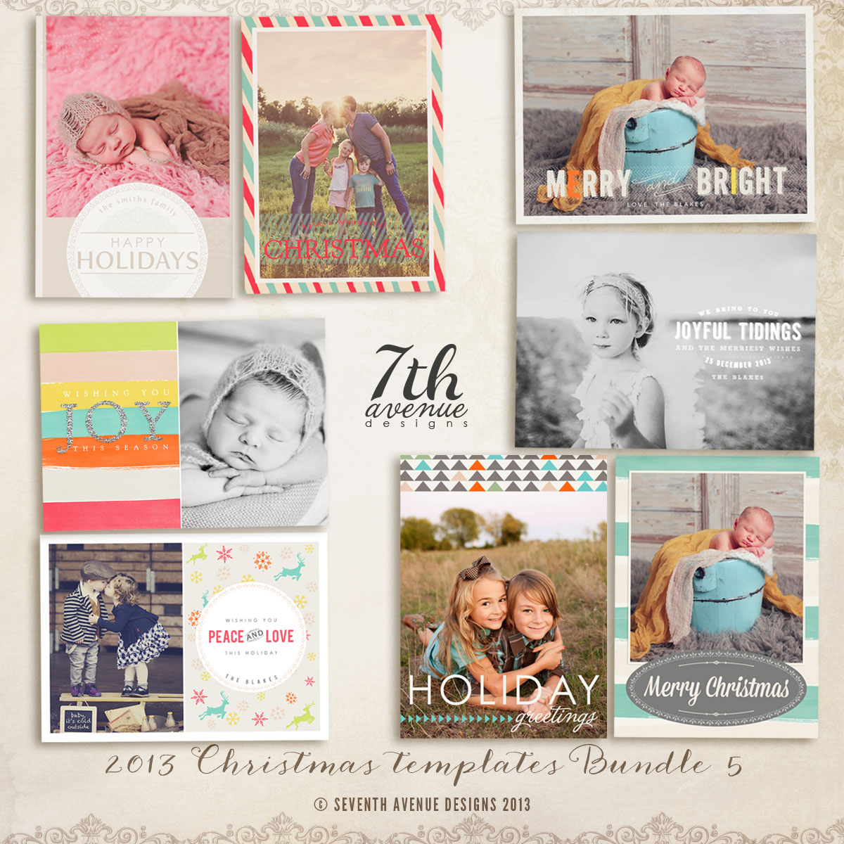 2013 Christmas Card Templates Bundle 5