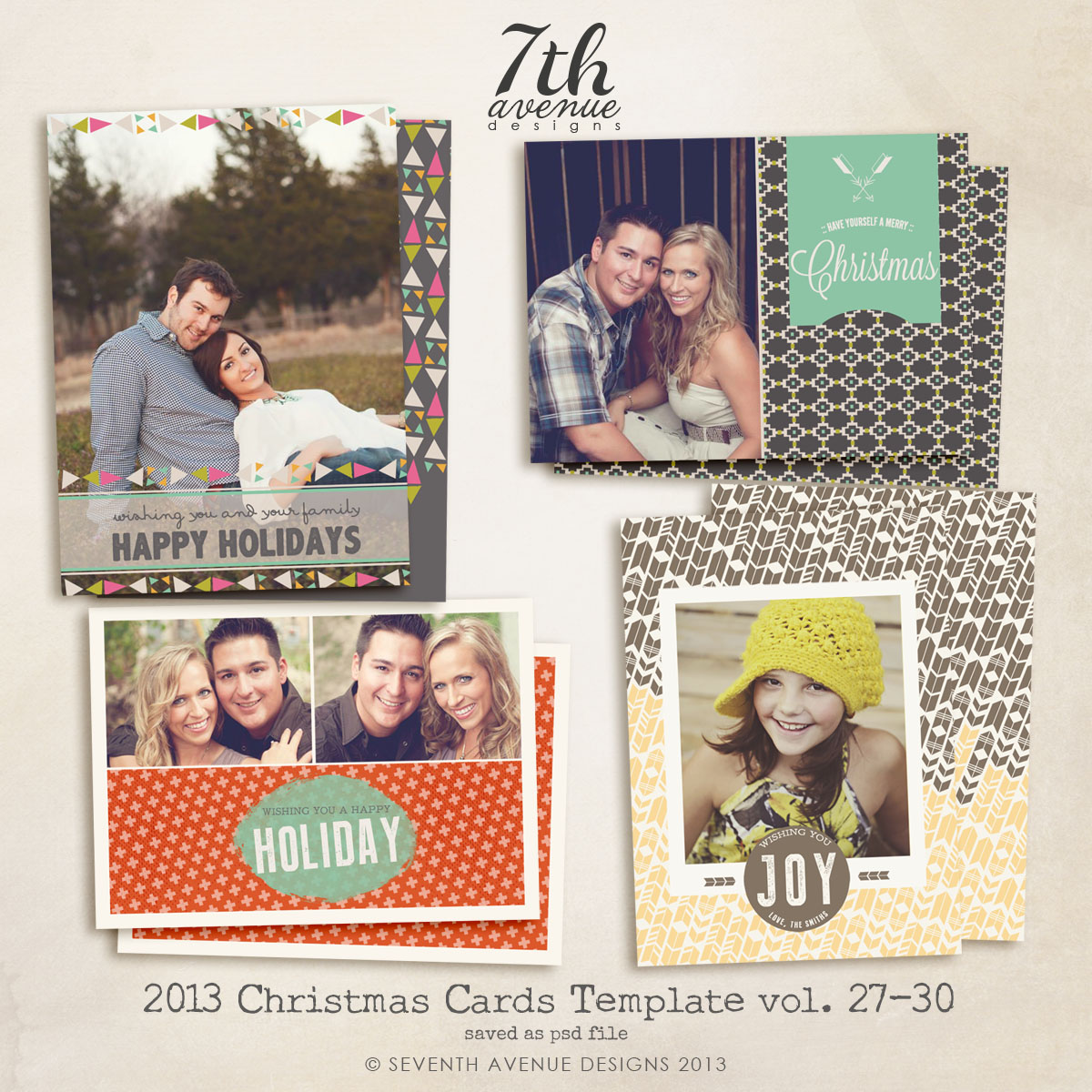2013 Christmas Card Templates Bundle 6