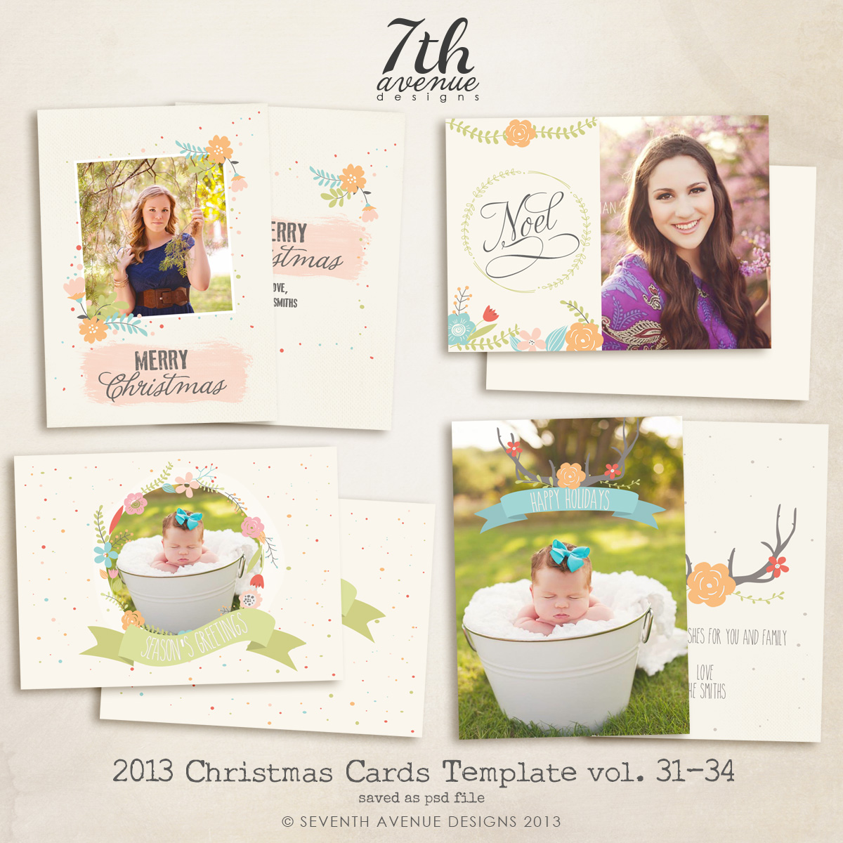 2013 Christmas Card Templates Bundle 7