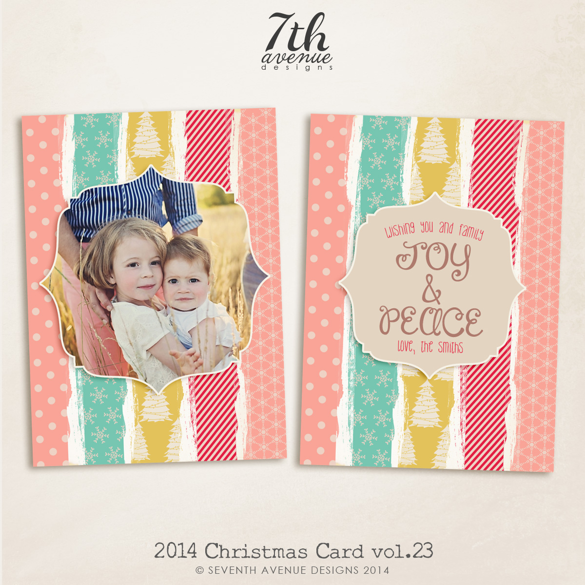 2014 Christmas Card Templates vol.23-- 7x5 inch