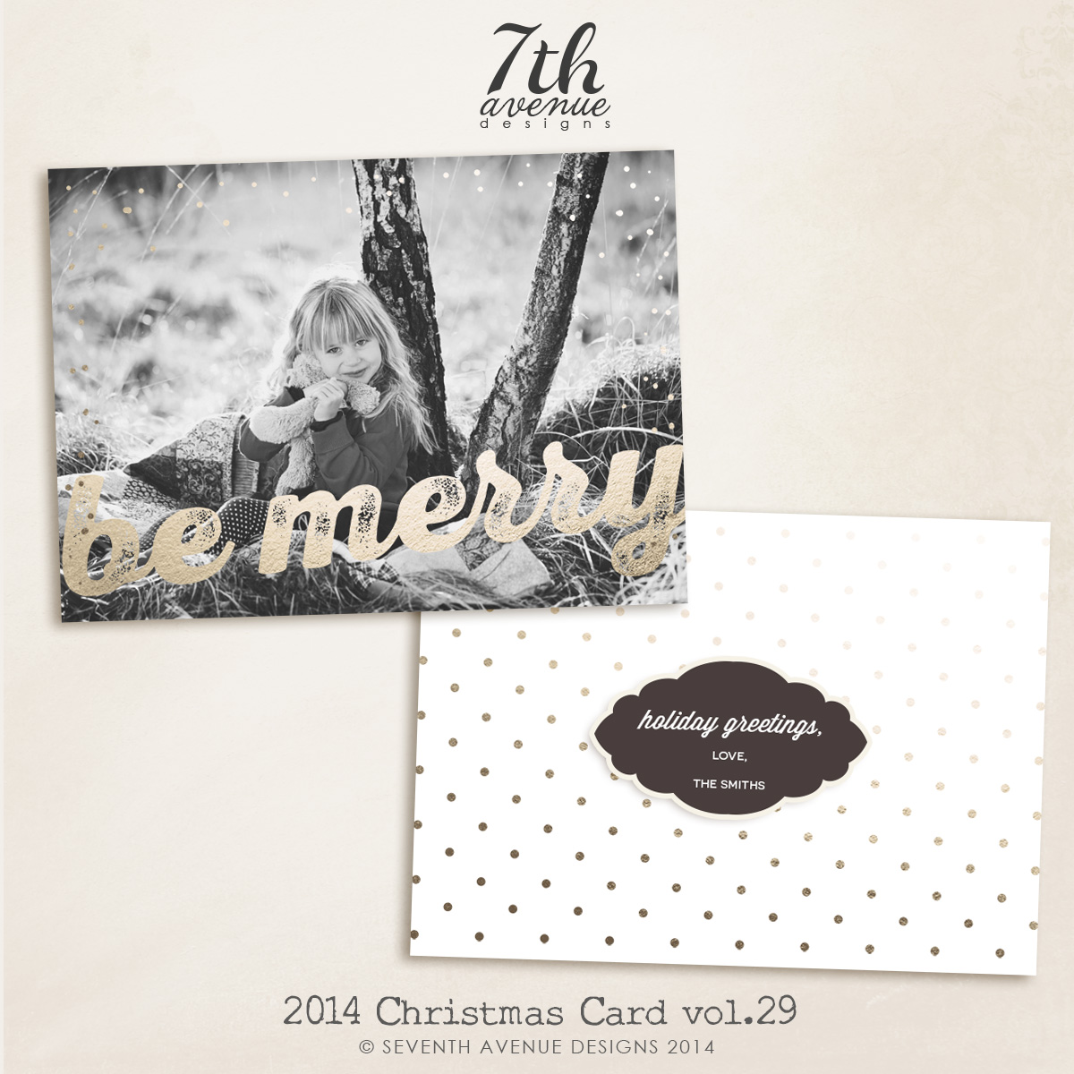 2014 Christmas Card Templates vol.29-- 7x5 inch