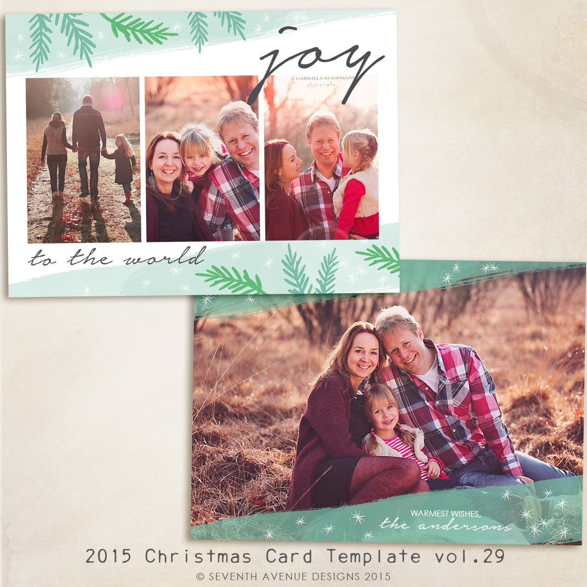 Christmas Card Templates Vol X Inch Card Template Cc - Christmas card templates for photographers 2