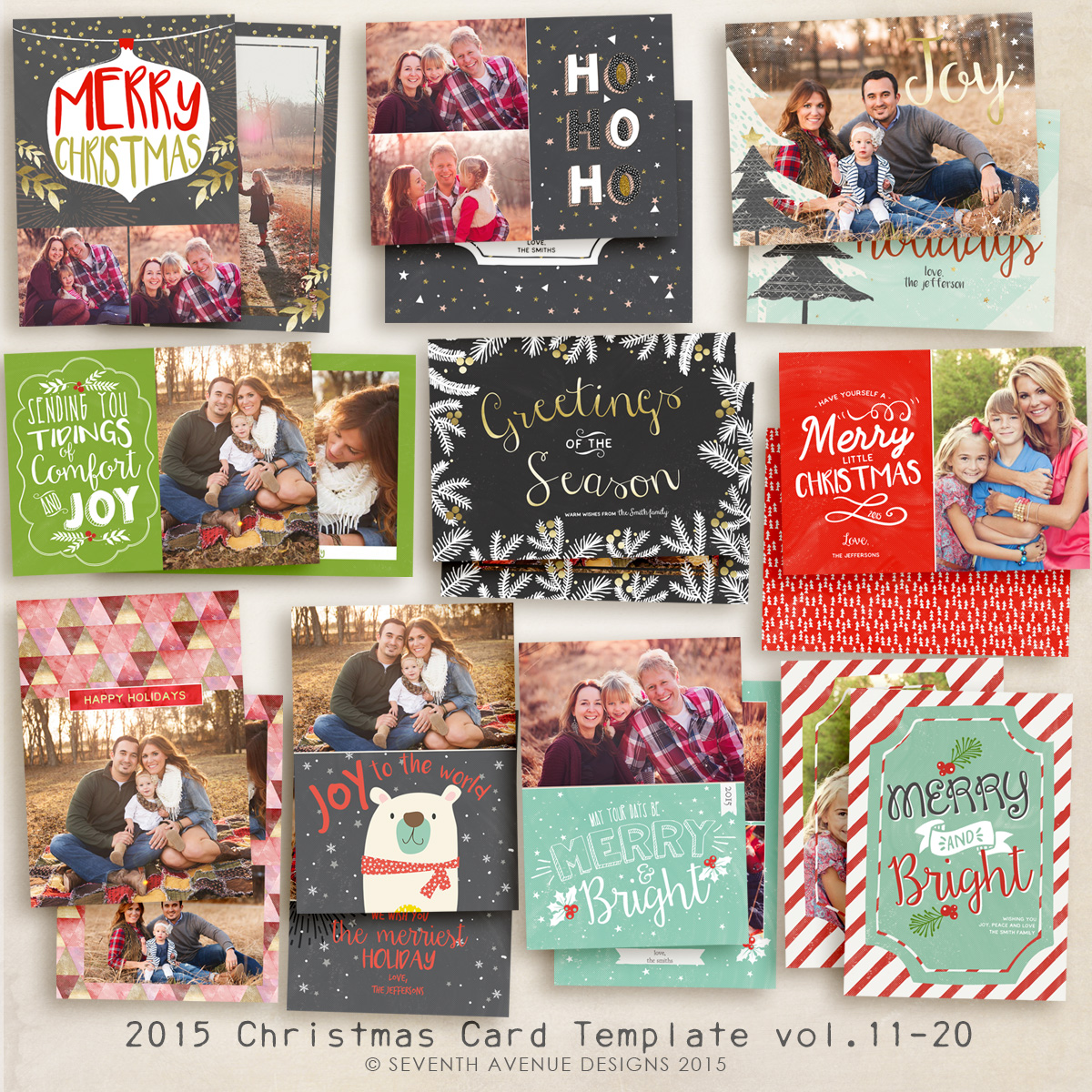 2015 Christmas Card Templates vol.11-20
