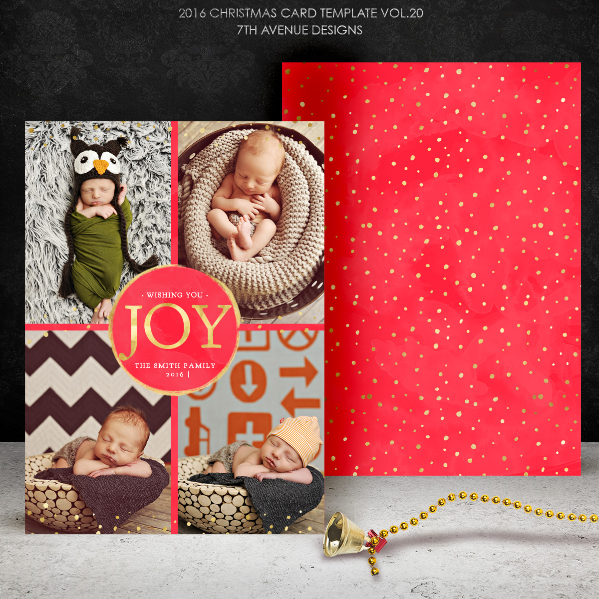 HOLIDAY CARDS 7thAvenue Designs Logo and Templates Designs – Holiday Card Template