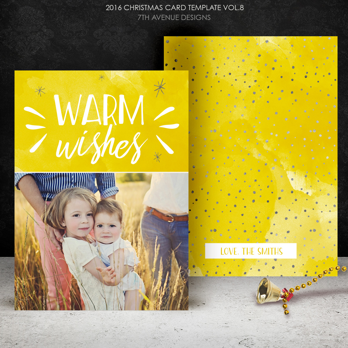 2016 Christmas Card Templates vol.8 -- 7x5 inch card template