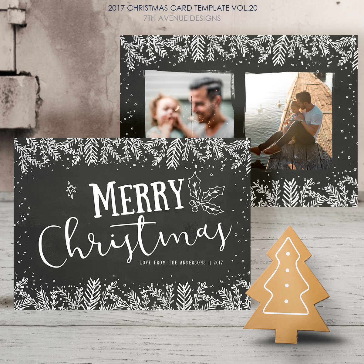 2017 Christmas Card Templates Vol 20