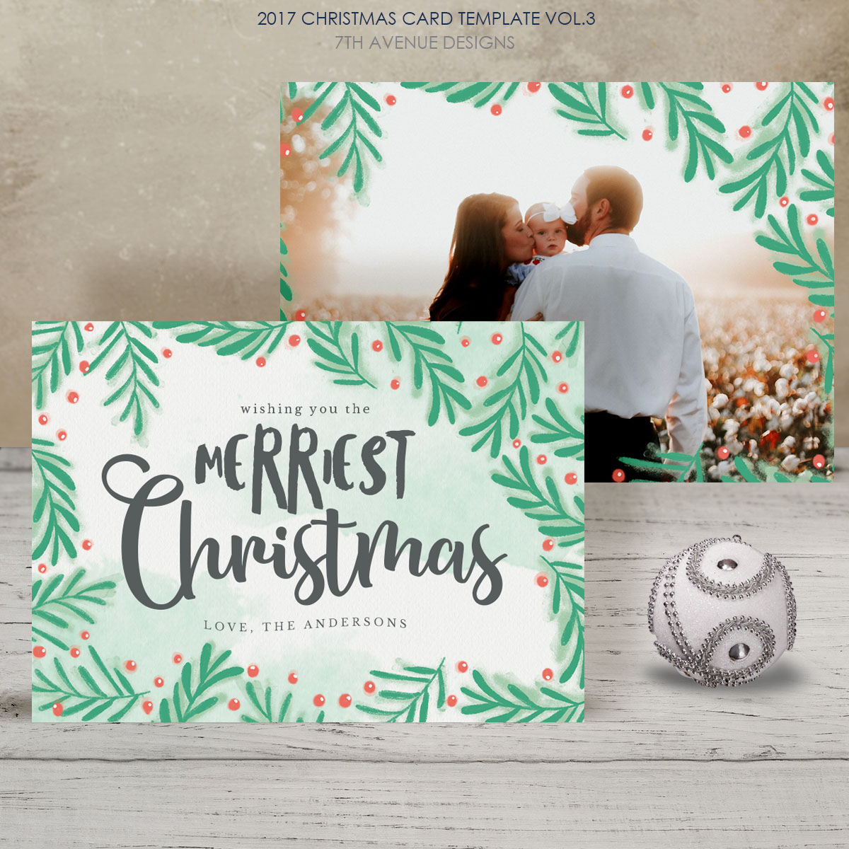 2017 Christmas Card Templates vol.3