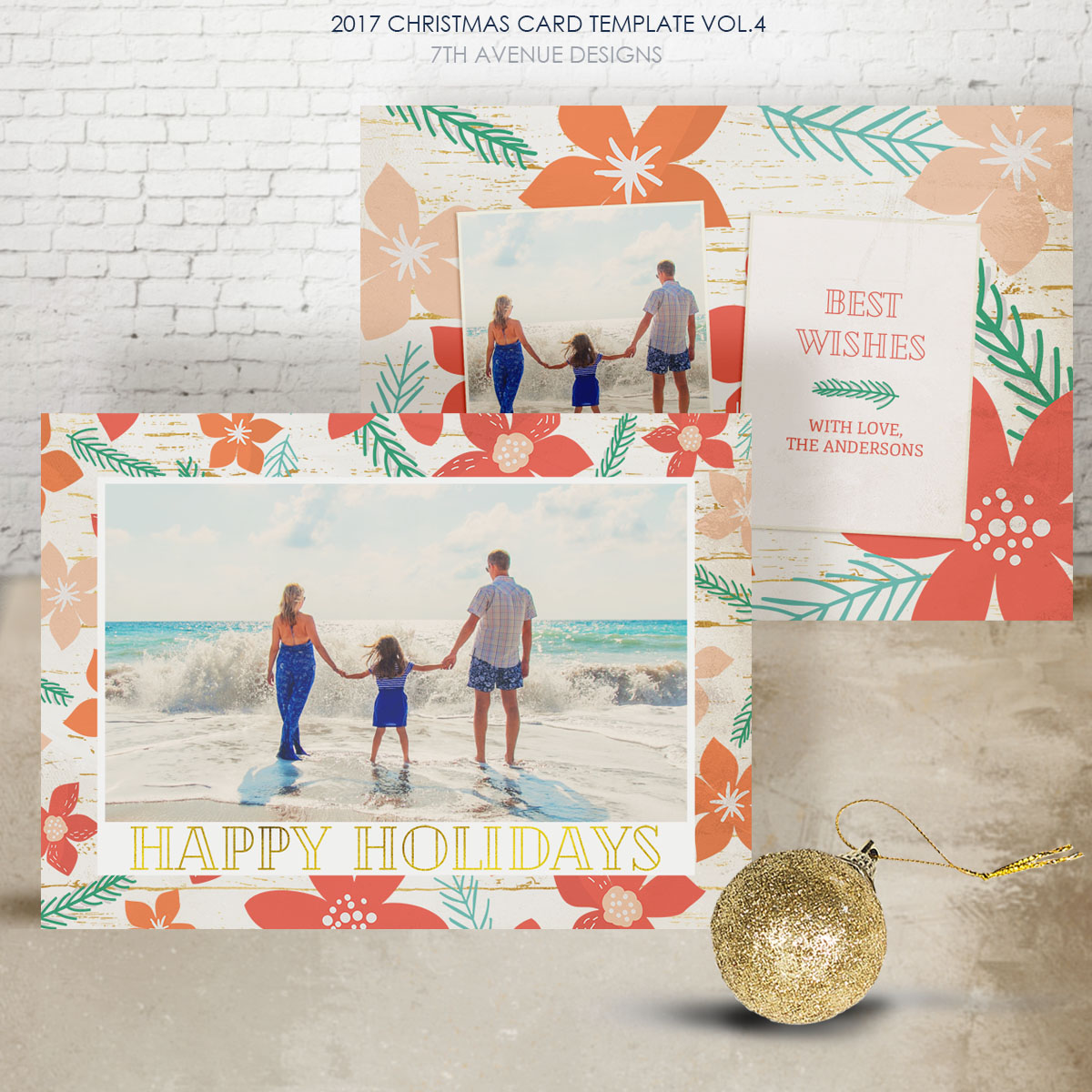 2017 Christmas Card Templates vol.4