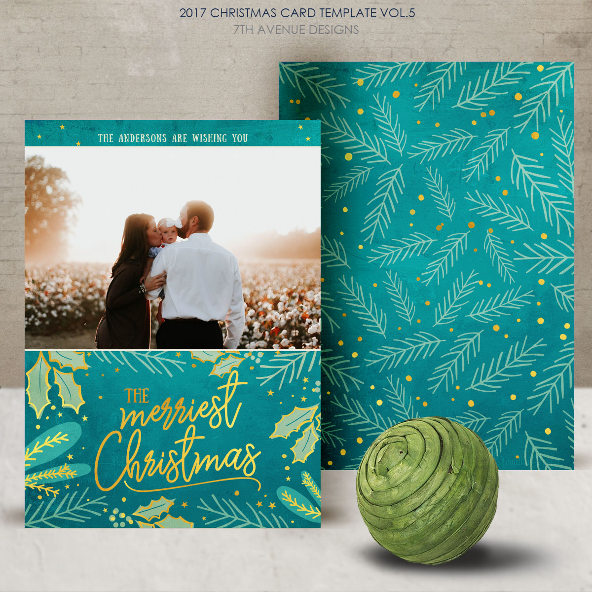 2017 Christmas Card Templates vol.5