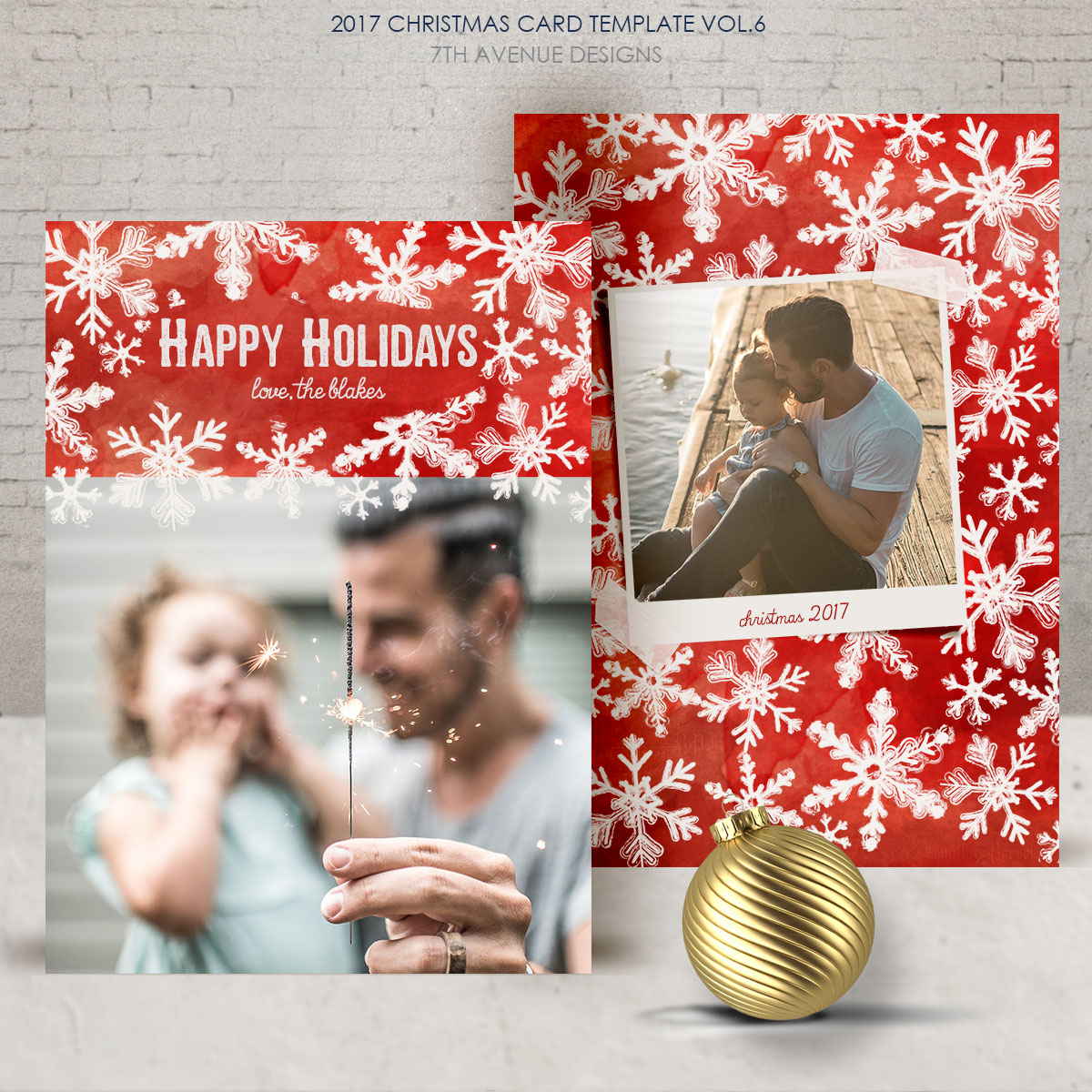2017 Christmas Card Templates vol.6