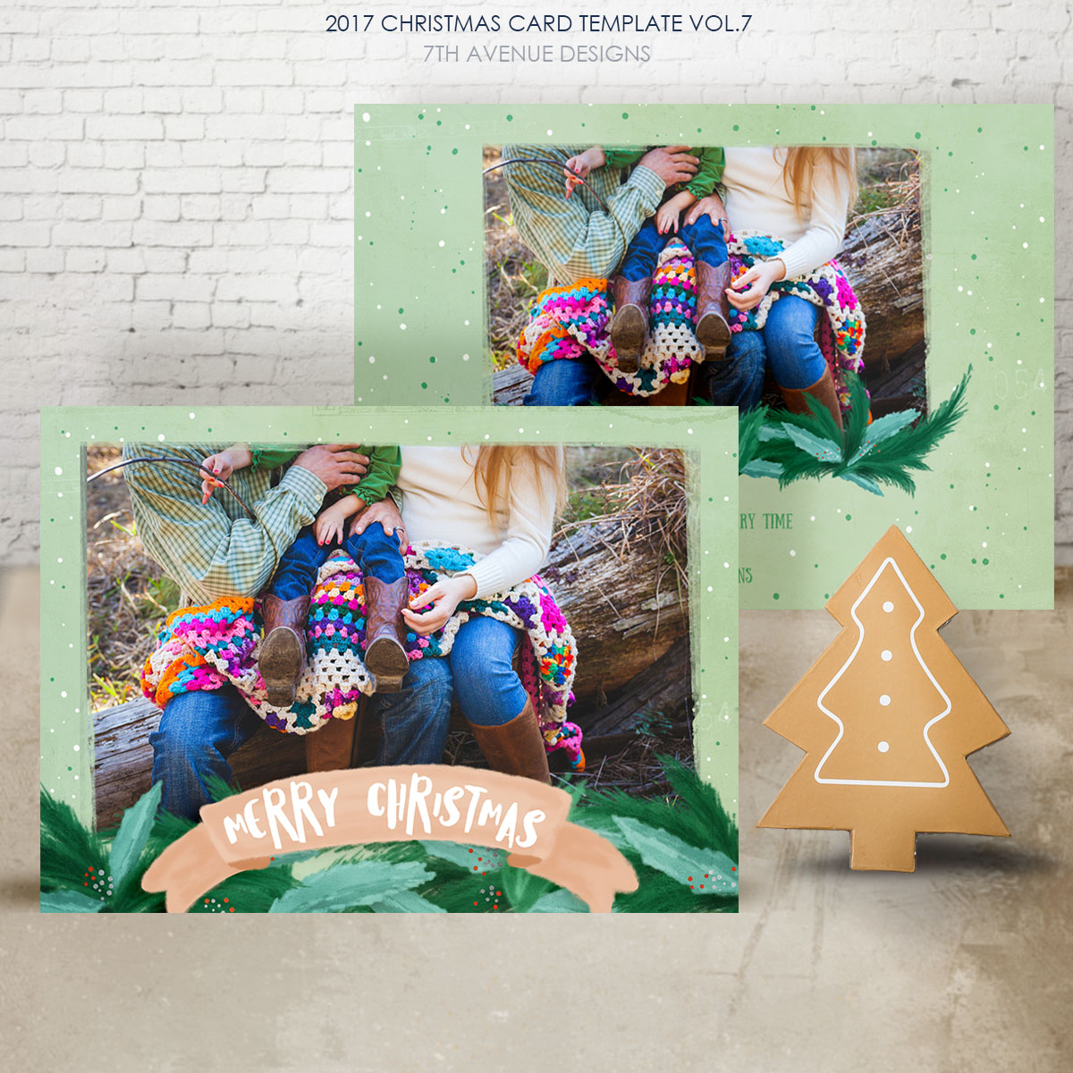 2017 Christmas Card Templates vol.7