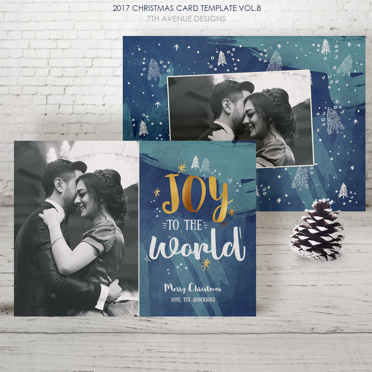2017 Christmas Card Templates vol.8
