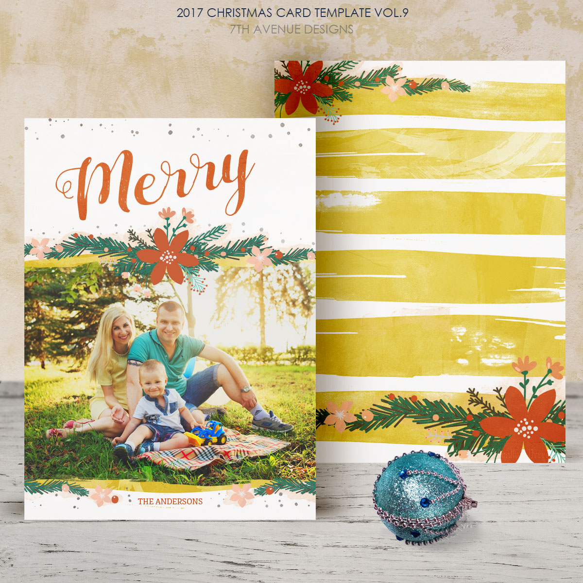 2017 Christmas Card Templates vol.9