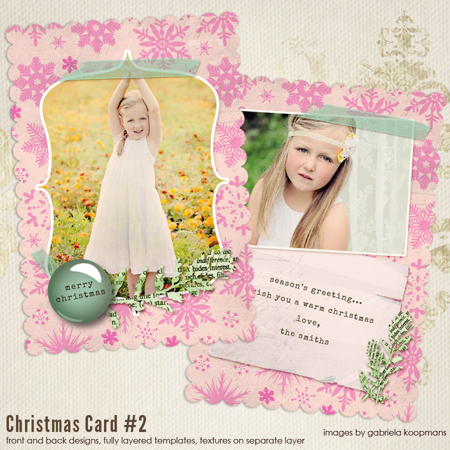 Scalloped Christmas Card Templates Vol Thcc - Christmas card templates for photographers 2