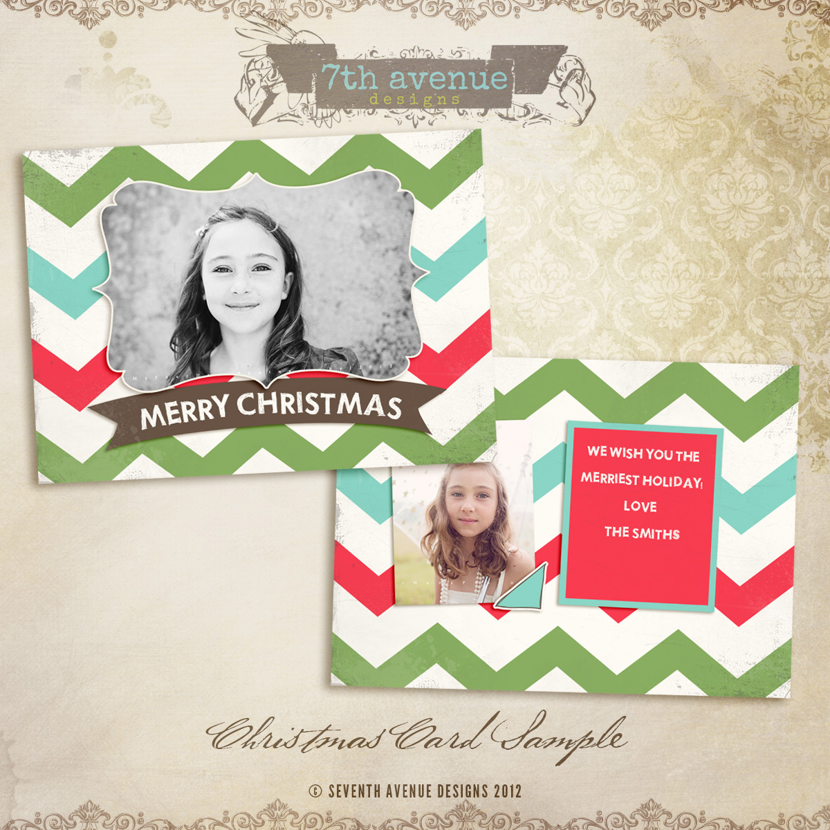 Free christmas card free cc2012 it 39 s free 7thavenue for Free christmas card templates for photographers